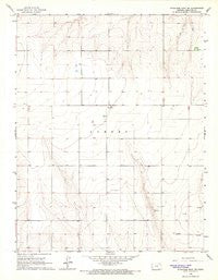 Syracuse East SW Kansas Historical topographic map, 1:24000 scale, 7.5 X 7.5 Minute, Year 1966