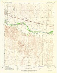 Syracuse East Kansas Historical topographic map, 1:24000 scale, 7.5 X 7.5 Minute, Year 1966