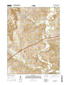 Tonganoxie Kansas Current topographic map, 1:24000 scale, 7.5 X 7.5 Minute, Year 2016