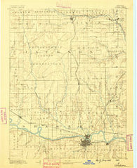 Topeka Kansas Historical topographic map, 1:125000 scale, 30 X 30 Minute, Year 1889