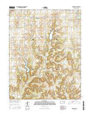 Toronto SE Kansas Current topographic map, 1:24000 scale, 7.5 X 7.5 Minute, Year 2015 from Kansas Maps Store