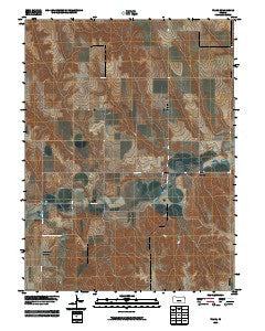 Traer Kansas Historical topographic map, 1:24000 scale, 7.5 X 7.5 Minute, Year 2009