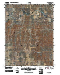 Turkville Kansas Historical topographic map, 1:24000 scale, 7.5 X 7.5 Minute, Year 2009