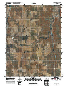 Twin Mound Kansas Historical topographic map, 1:24000 scale, 7.5 X 7.5 Minute, Year 2009