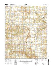 Tyro Kansas Current topographic map, 1:24000 scale, 7.5 X 7.5 Minute, Year 2015 from Kansas Maps Store
