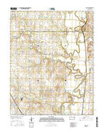 Udall Kansas Current topographic map, 1:24000 scale, 7.5 X 7.5 Minute, Year 2015 from Kansas Map Store