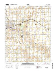 Ulysses Kansas Current topographic map, 1:24000 scale, 7.5 X 7.5 Minute, Year 2016