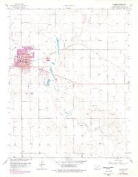 Ulysses Kansas Historical topographic map, 1:24000 scale, 7.5 X 7.5 Minute, Year 1959