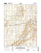 Ulysses SW Kansas Current topographic map, 1:24000 scale, 7.5 X 7.5 Minute, Year 2015 from Kansas Map Store