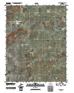 Uniontown Kansas Historical topographic map, 1:24000 scale, 7.5 X 7.5 Minute, Year 2009