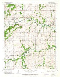 Uniontown Kansas Historical topographic map, 1:24000 scale, 7.5 X 7.5 Minute, Year 1966