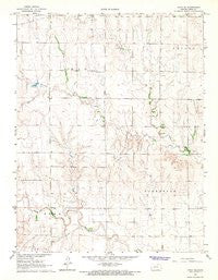 Utica SE Kansas Historical topographic map, 1:24000 scale, 7.5 X 7.5 Minute, Year 1966