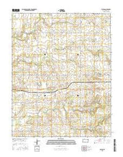 Valeda Kansas Current topographic map, 1:24000 scale, 7.5 X 7.5 Minute, Year 2015 from Kansas Maps Store