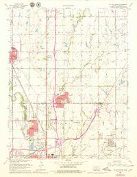 Valley Center Kansas Historical topographic map, 1:24000 scale, 7.5 X 7.5 Minute, Year 1960