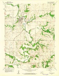Valley Falls Kansas Historical topographic map, 1:24000 scale, 7.5 X 7.5 Minute, Year 1959