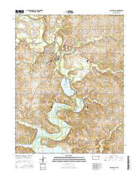 Valley Falls Kansas Current topographic map, 1:24000 scale, 7.5 X 7.5 Minute, Year 2016