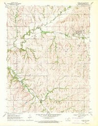 Vermillion Kansas Historical topographic map, 1:24000 scale, 7.5 X 7.5 Minute, Year 1969