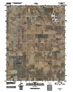 Victoria Kansas Historical topographic map, 1:24000 scale, 7.5 X 7.5 Minute, Year 2009