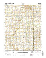 Vilas Kansas Current topographic map, 1:24000 scale, 7.5 X 7.5 Minute, Year 2015 from Kansas Maps Store