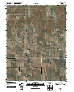 Vincent Kansas Historical topographic map, 1:24000 scale, 7.5 X 7.5 Minute, Year 2009