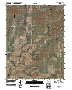 Vine Creek Kansas Historical topographic map, 1:24000 scale, 7.5 X 7.5 Minute, Year 2009