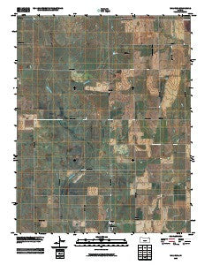 Waldron Kansas Historical topographic map, 1:24000 scale, 7.5 X 7.5 Minute, Year 2009