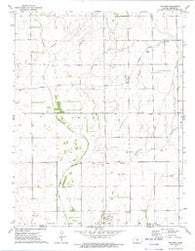Waldron Kansas Historical topographic map, 1:24000 scale, 7.5 X 7.5 Minute, Year 1972