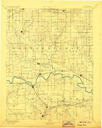 Wamego Kansas Historical topographic map, 1:125000 scale, 30 X 30 Minute, Year 1894