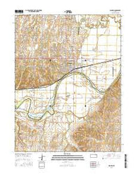Wamego Kansas Current topographic map, 1:24000 scale, 7.5 X 7.5 Minute, Year 2016