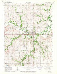 Washington Kansas Historical topographic map, 1:24000 scale, 7.5 X 7.5 Minute, Year 1966