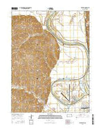 Wathena Kansas Current topographic map, 1:24000 scale, 7.5 X 7.5 Minute, Year 2015 from Kansas Map Store