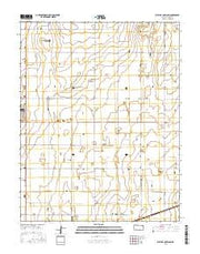 West of Copeland Kansas Current topographic map, 1:24000 scale, 7.5 X 7.5 Minute, Year 2016 from Kansas Maps Store