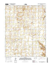 West of Eminence Cemetery Kansas Current topographic map, 1:24000 scale, 7.5 X 7.5 Minute, Year 2016