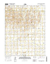 West of Wild Horse Lake Kansas Current topographic map, 1:24000 scale, 7.5 X 7.5 Minute, Year 2016