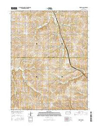 Wheaton Kansas Current topographic map, 1:24000 scale, 7.5 X 7.5 Minute, Year 2016