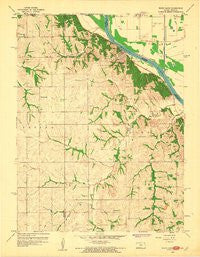 White Cloud Kansas Historical topographic map, 1:24000 scale, 7.5 X 7.5 Minute, Year 1959