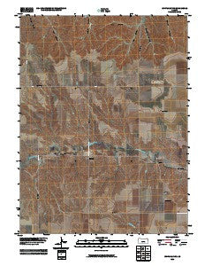 White Canyon Kansas Historical topographic map, 1:24000 scale, 7.5 X 7.5 Minute, Year 2009
