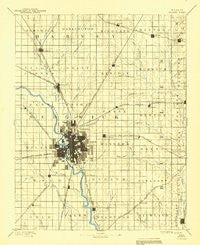 Wichita Kansas Historical topographic map, 1:125000 scale, 30 X 30 Minute, Year 1894