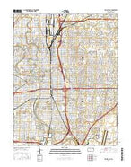 Wichita East Kansas Current topographic map, 1:24000 scale, 7.5 X 7.5 Minute, Year 2015 from Kansas Map Store