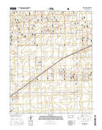 Wilburton Kansas Current topographic map, 1:24000 scale, 7.5 X 7.5 Minute, Year 2015 from Kansas Map Store