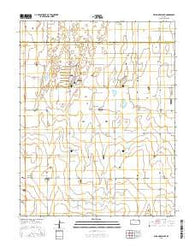 Wild Horse Lake Kansas Current topographic map, 1:24000 scale, 7.5 X 7.5 Minute, Year 2016