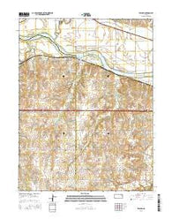 Willard Kansas Current topographic map, 1:24000 scale, 7.5 X 7.5 Minute, Year 2016