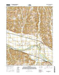 Williamstown Kansas Current topographic map, 1:24000 scale, 7.5 X 7.5 Minute, Year 2016
