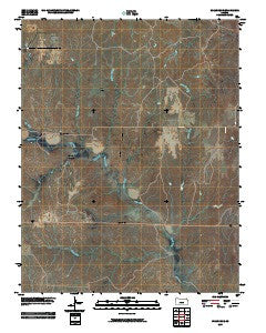 Wilmore SE Kansas Historical topographic map, 1:24000 scale, 7.5 X 7.5 Minute, Year 2009