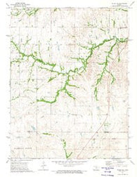 Wilsey SE Kansas Historical topographic map, 1:24000 scale, 7.5 X 7.5 Minute, Year 1972