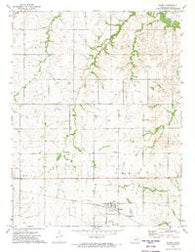 Wilsey Kansas Historical topographic map, 1:24000 scale, 7.5 X 7.5 Minute, Year 1972