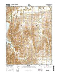 Wilson NW Kansas Current topographic map, 1:24000 scale, 7.5 X 7.5 Minute, Year 2016