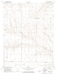 Winona NW Kansas Historical topographic map, 1:24000 scale, 7.5 X 7.5 Minute, Year 1972