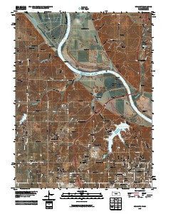 Wolcott Kansas Historical topographic map, 1:24000 scale, 7.5 X 7.5 Minute, Year 2009
