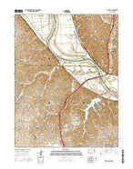 Wolcott Kansas Current topographic map, 1:24000 scale, 7.5 X 7.5 Minute, Year 2015 from Kansas Map Store